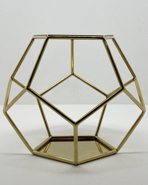 Prop Options gold Geometric pentagon spacer cake separator