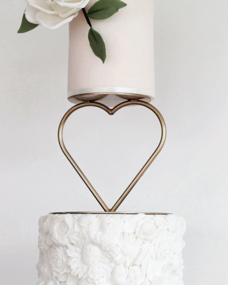 Prop Options Gold Heart Tier Cake Separator