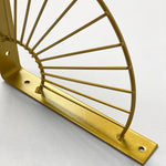 Set of 2 gold fan metal shelf brackets