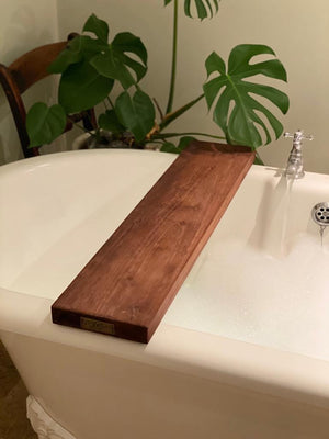 Prop Options hand crafted reclaimed bath board dark