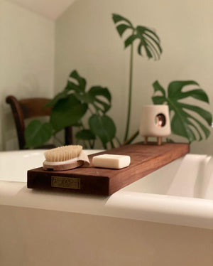 Prop Options hand crafted reclaimed bath board dark - styled