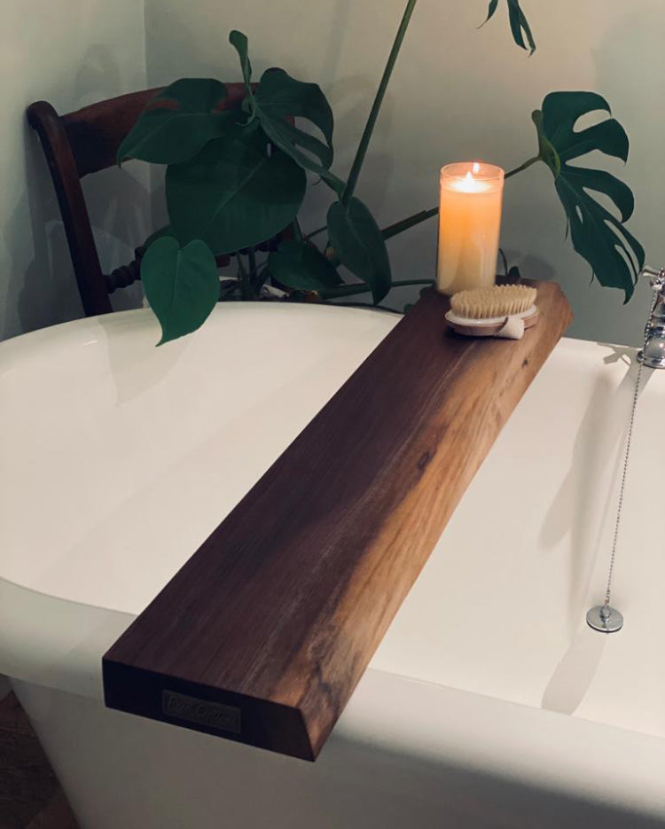 Prop Options hand crafted bespoke American black walnut bath board