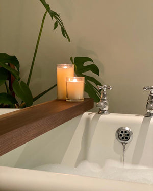 Black walnut bath tray