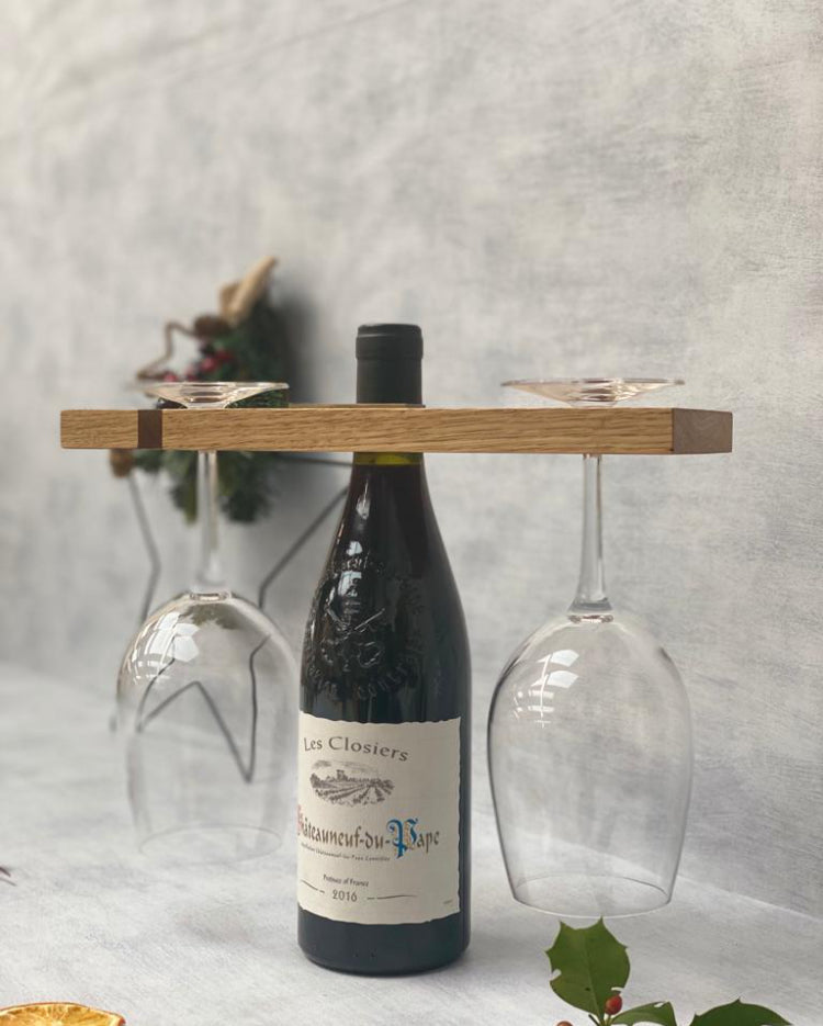 Prop Options English oak wine caddy for christmas