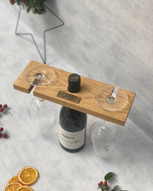Prop Options English oak wine caddy - Christmas style