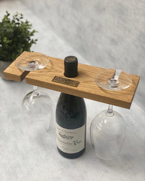 Prop Options English oak wine caddy