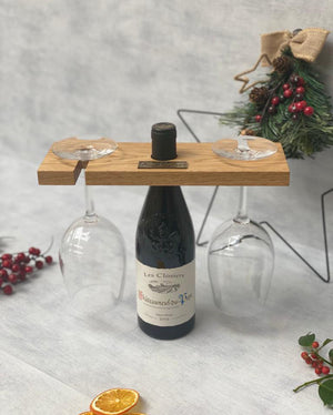 Prop Options English oak wine glass holder