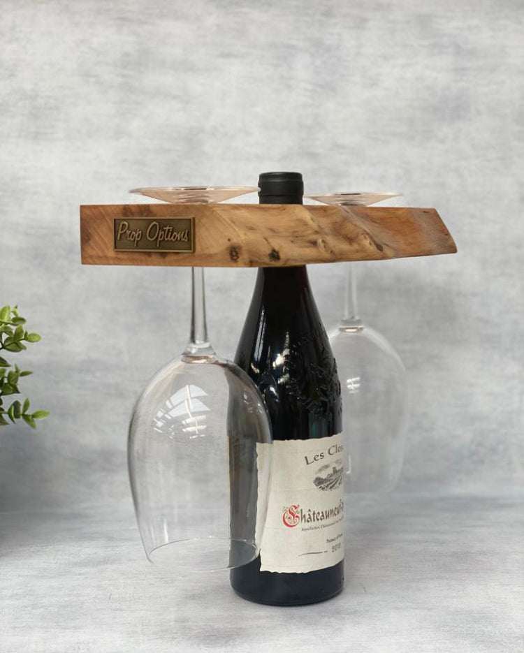 Prop Options English walnut wine butler