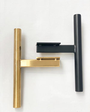 Prop Options cylindrical metal t-bar furniture legs black and gold