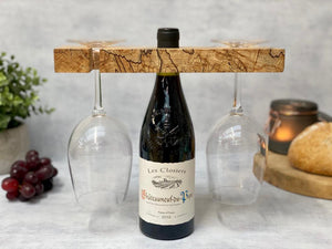 Prop Options luxury spalted beech wine butler and wine caddy, freshly baked bread and candles