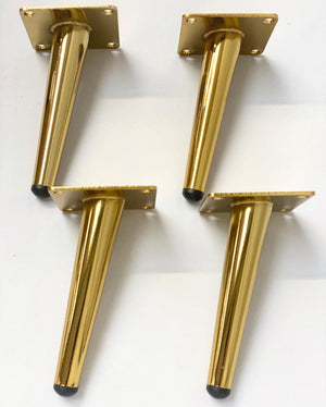 Prop Options metallic gold metal tapered furniture legs