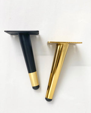 Prop Options black and gold metal tapered furniture legs