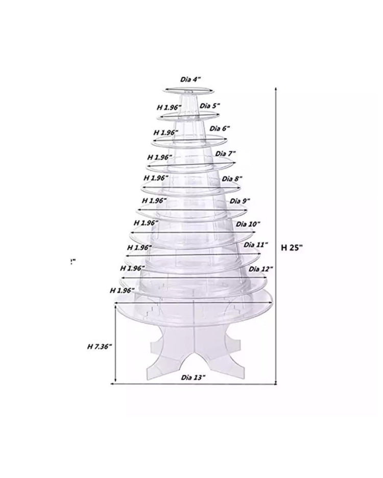 Prop Options stunning 10 tier adjustable macaron tower stand dimensions