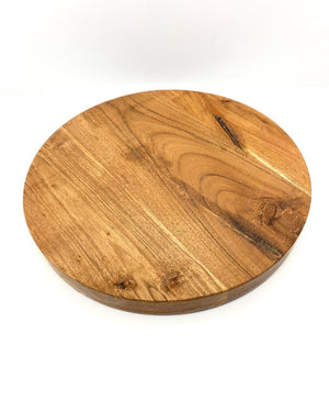 Prop Options round wooden acacia cake board