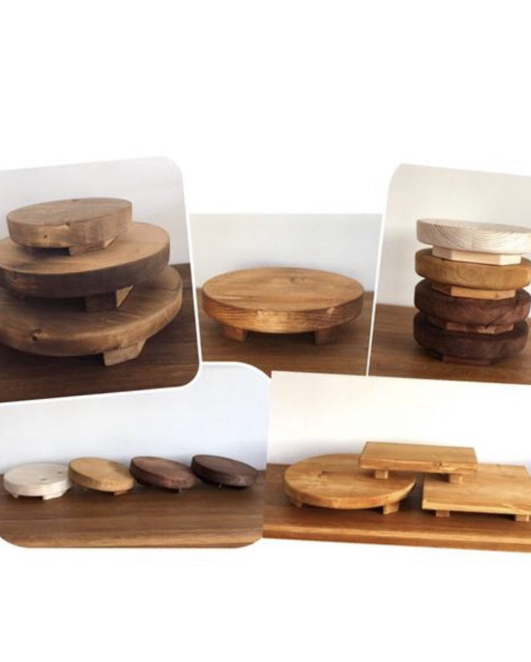 The Prop Options rustic olive cake stand range