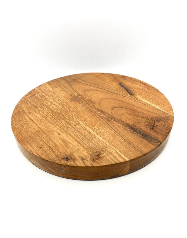 Prop Options round acacia wood board