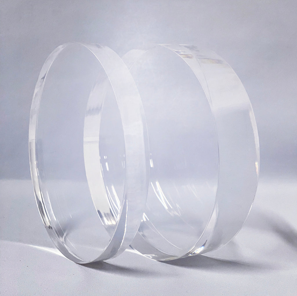 30mm Clear ultra polished acrylic cake separator