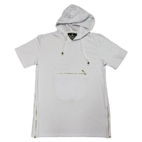 Zipper Hooded Tee
