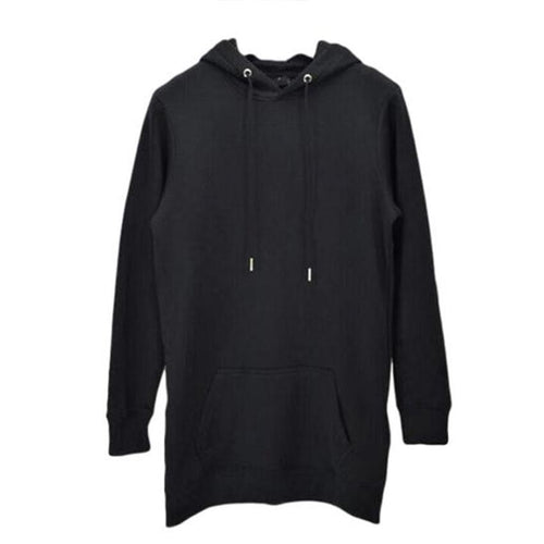 Long Fit Cotton Hoodie