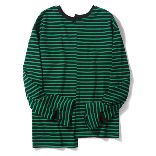 Green Spliced Crewneck