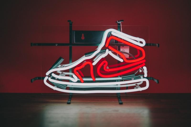 Hand Crafted AJ1 Neon Sneaker Light