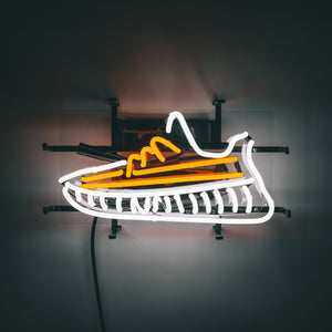 Sole Goods Hand Crafted Yeezy 350V2 Neon Sneaker Lamp, neon shoe, neon light, neon sneaker, sneaker neon lamp, sneaker neon light, yeezy350, yeezy350 light, yeezy light, yeezy lamp, shoe light, shoe lamp, neon shoe, shoe neons, adidas neon, adidas shoe light, adidas lamp, adidas neon light, sneaker decor, neon decor, light up sneaker, lamp, neon shoe
