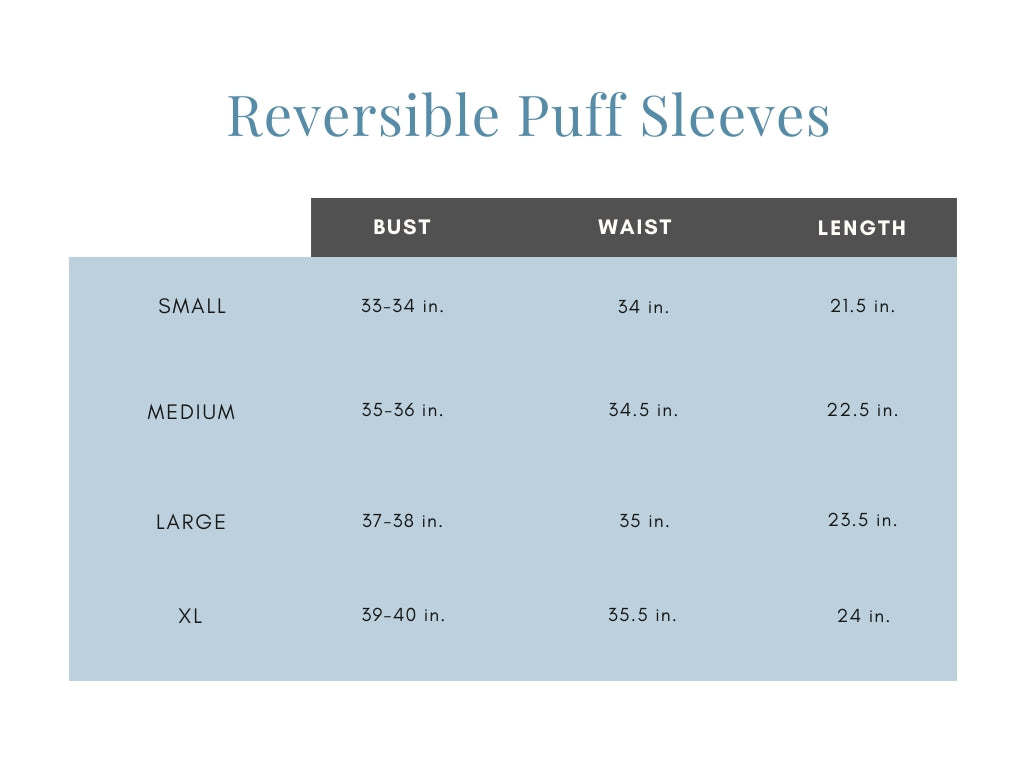 Reversible Puff Sleeves
