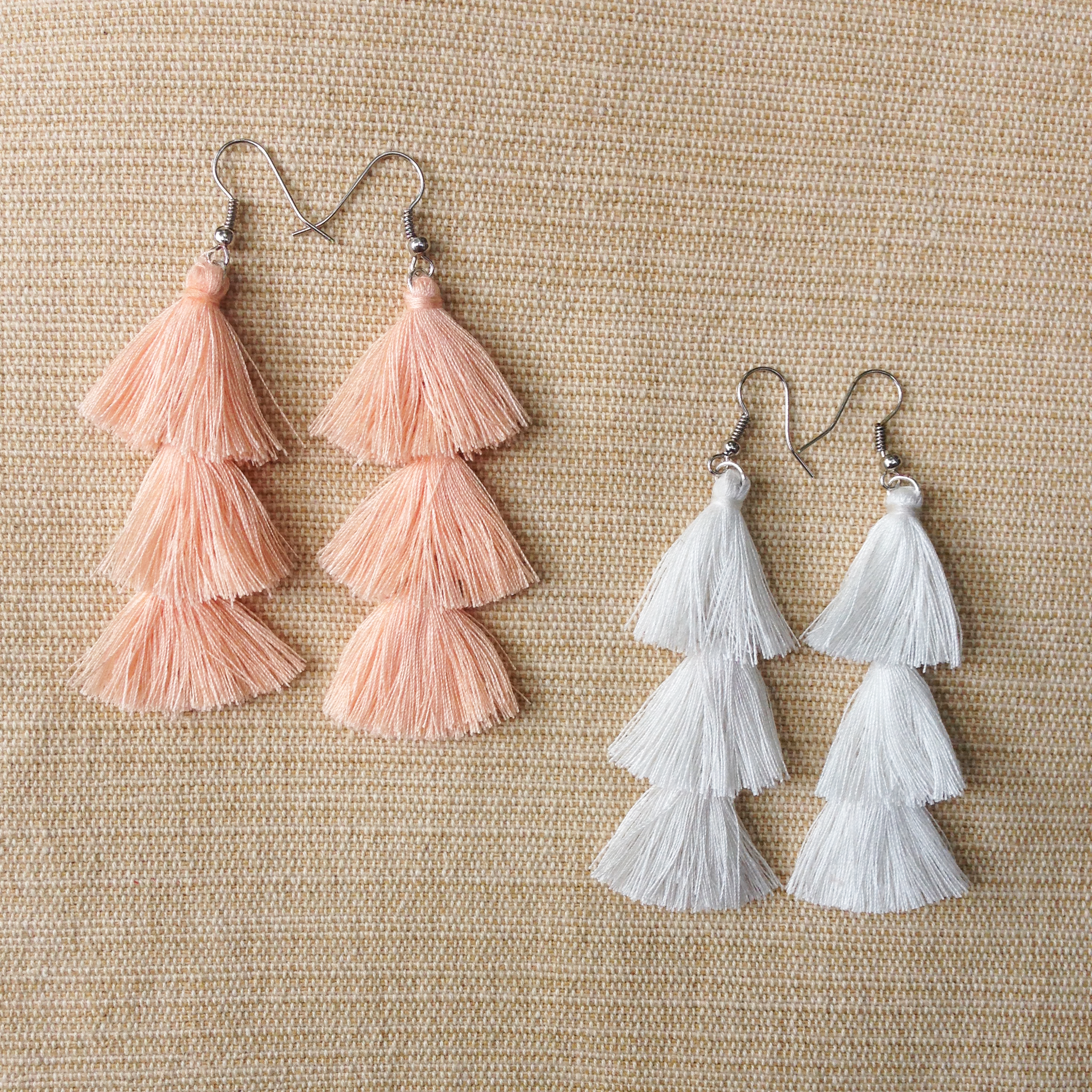 Zero Waste Tassel Earrings