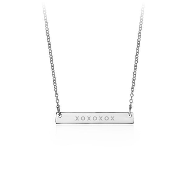 Silver Personalised Bar Necklace