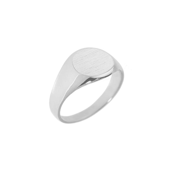 Silver Personalised Round Signet Ring