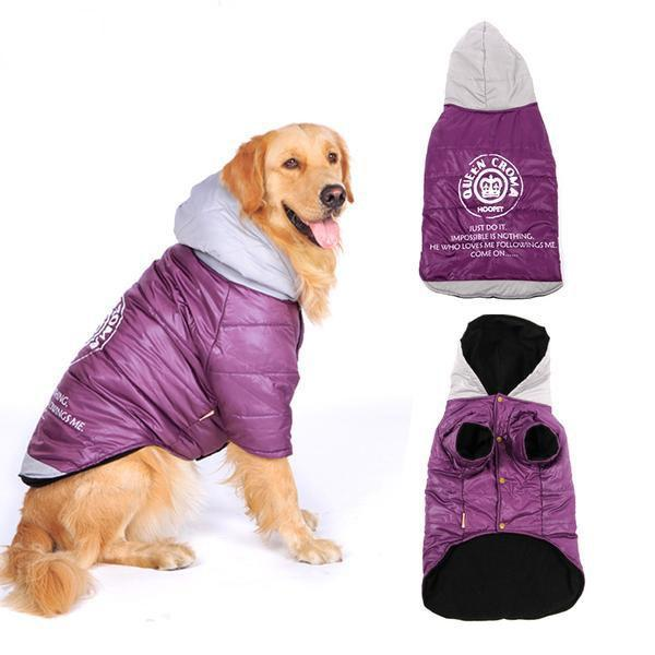 Manteau à capuche grand chien - Chaud & confortable - Coton rembourré vetement Chimey's Paradise