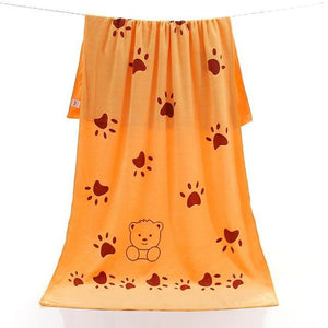 Serviette microfibre Cartoon douce et ultra absorbante pour animaux douche Chimey's Paradise