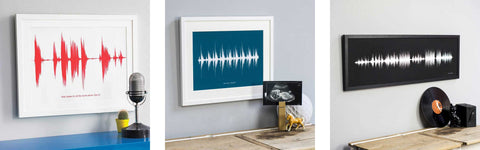 Personalised Sound Wave Prints