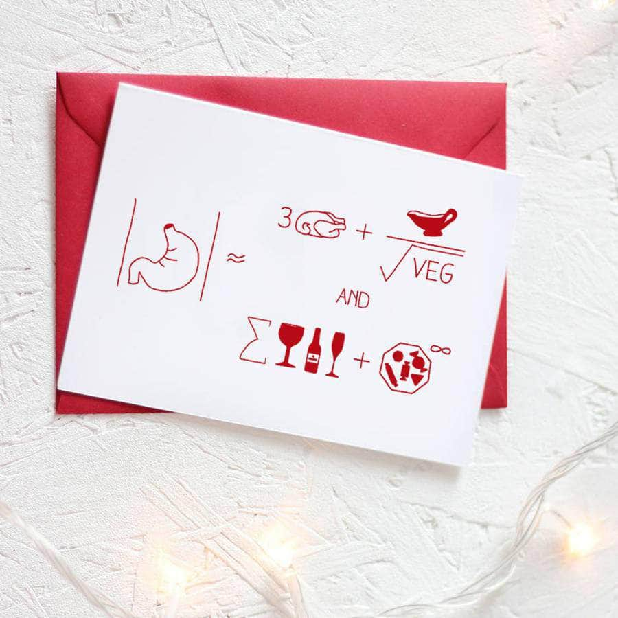 Christmas Formula For Dinner Card Packs - Newton and Apple