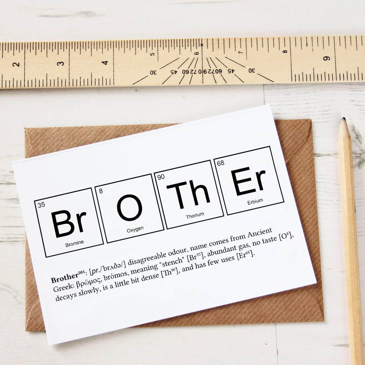 Funny brother periodic table card newton and apple funny brother periodic table card urtaz Image collections