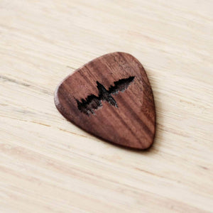 Personalised Sound Wave Wooden Pick - Newton and Apple