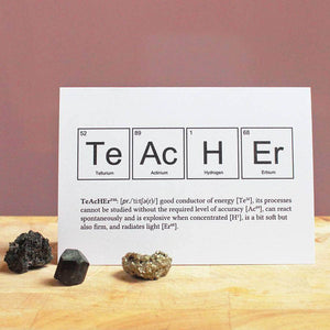 Teacher Periodic Table Humourous Card - Newton and Apple