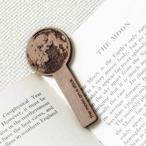 Wooden Moon On A Stick Bookmark Keepsake