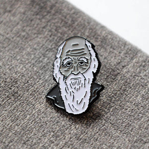 Charles Darwin Soft Enamel Pin - Newton and Apple