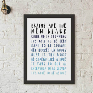 Ombre Nerds And Geeks Typography Print - Newton and Apple