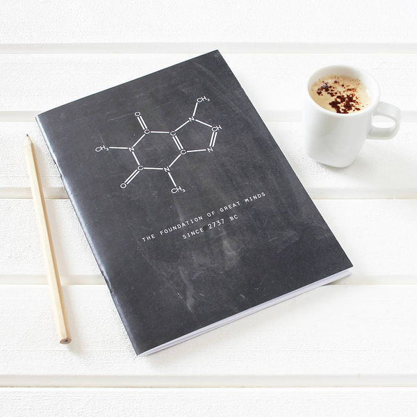 Chalkboard Caffeine Notebook For Coffee Lovers - Newton and Apple