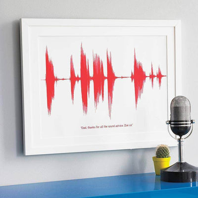 Personalised voice or song sound wave art print newton and apple personalised your voice sound wave print negle Choice Image