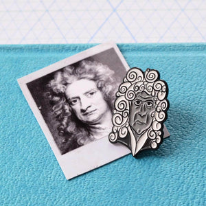 Isaac Newton Soft Enamel Pin - Newton and Apple