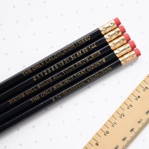 Maths Pencil Set - Newton and Apple