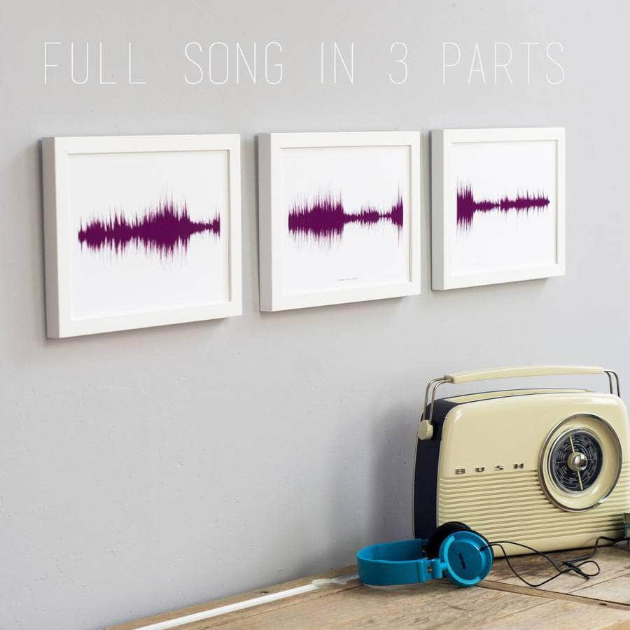 Gift Voucher For Three Personalised Sound Wave Prints - Newton and Apple