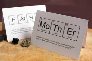 Mothers Day Humourous Science Card - Newton and Apple