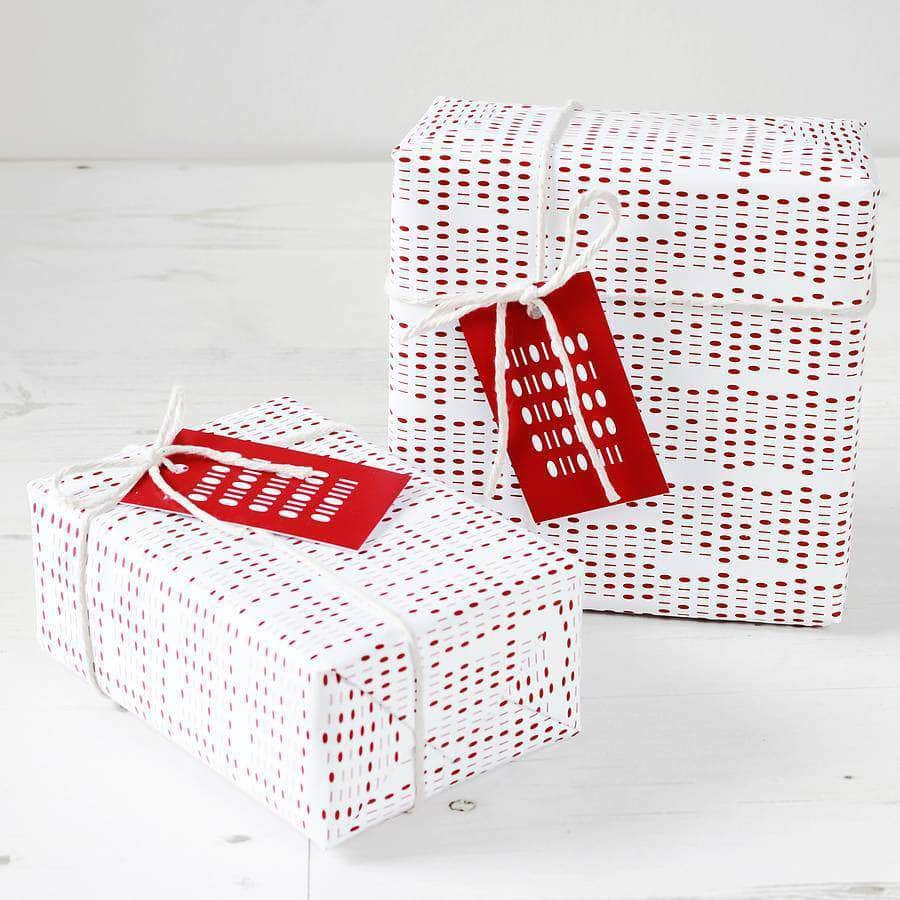 Geek Binary Gift Wrap Set - Newton and Apple