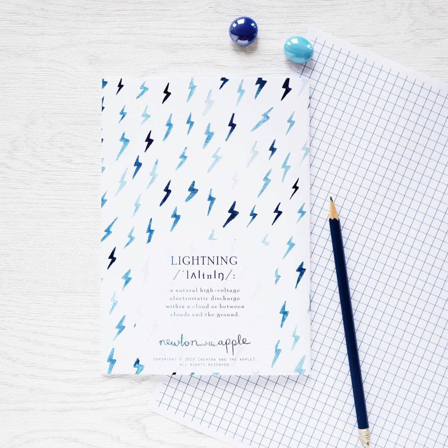 Lightning Bolt Moments Notebook - Newton and Apple