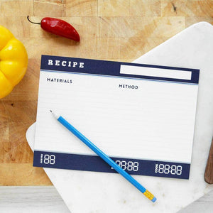 Scientific Recipe Index Cards Set - Newton and Apple