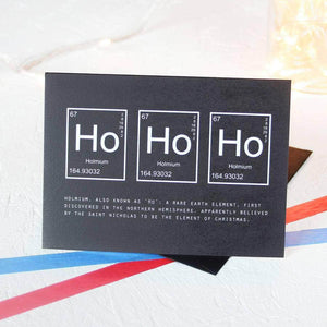 Christmas Periodic Table Ho Ho Ho Card Packs - Newton and Apple